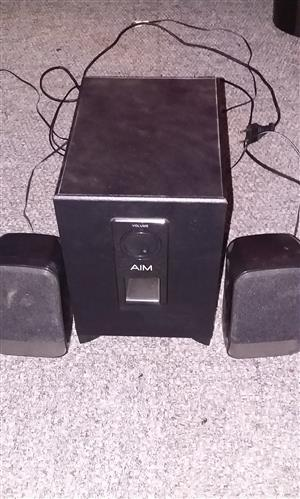 Aim sub and speakers