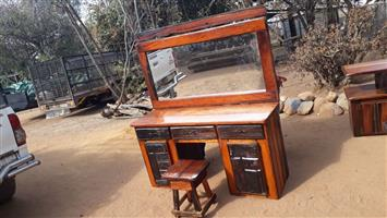Sleeper wood dressing table