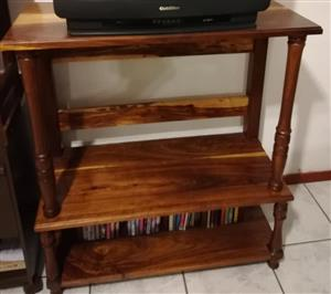 Wooden dvd or book shelf