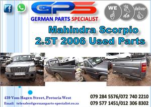 Used Mahindra Scorpio 2.5T 2006 Parts for Sale