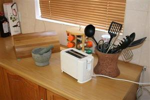 Toaster and utensils for sale
