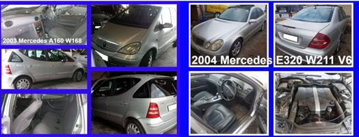 Mercedes W168 and W211 spares for sale.