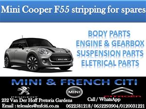 We at Mini & French we are currently stripping a Mini Cooper F55 for spare parts