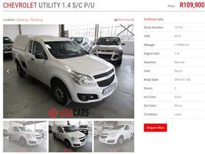 2016 Chevrolet Utility 1.4 Sport