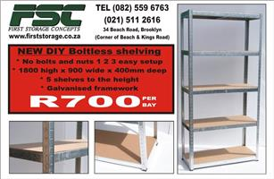 Shelving Racking and Mezzanine floors TRY us FIRST STORAGE CONCEPT