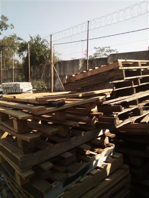 Secondhand wooden pallets