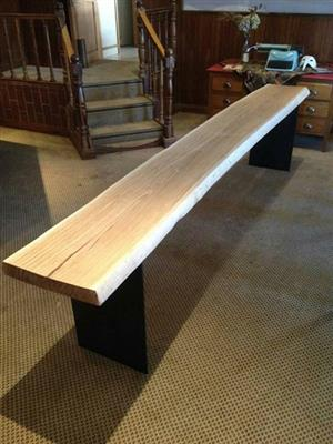 Hand made solid slab wooden table
