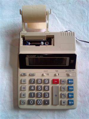 Sharp Printing Calculator : #Subtotal /Total  #Average Function  #see the picture of the unit.   #Main or Battery Powered.  #Adaptor 220V Included.