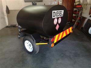1000L diesel trailer bowser