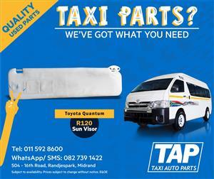 Toyota Quantum Sun Visor - Taxi Auto Parts quality used spares - TAP
