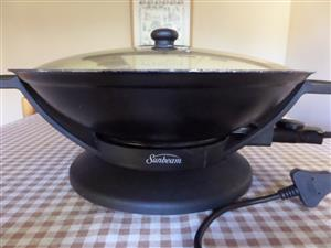 SUNBEAM WOK PAN  (ELECTRIC)