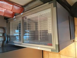 Commercial glass top freezer
