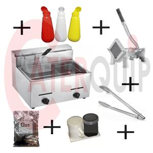 CHIP FRYER COMBO GAS FOR SALE