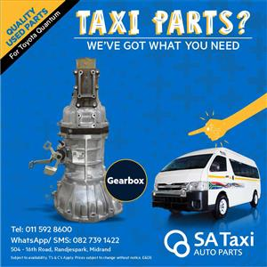 Gearbox suitable for Toyota Quantum - SA Taxi Auto Parts quality used spares
