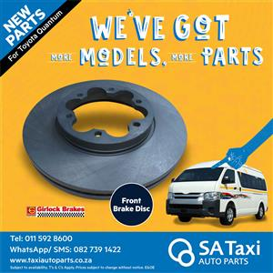New Front Brake Disc suitable for Toyota Quantum - SA Taxi Auto Parts quality taxi spares
