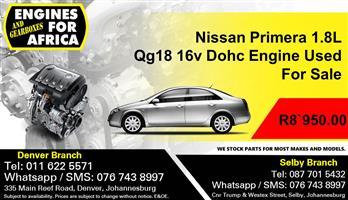 Nissan Primera 1.8L Qg18 16v Dohc Engine Used For Sale