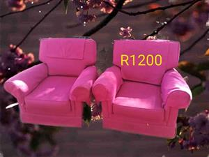 2 Seater pink couches for sale
