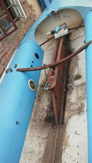 Kompleet 7 meter seilboot met maste en seile