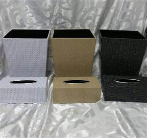 White, Gold and Black storage boxes