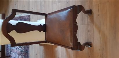 Antique Wooden brown ball and claw chair