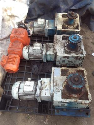 Electrical motor and gearboxes