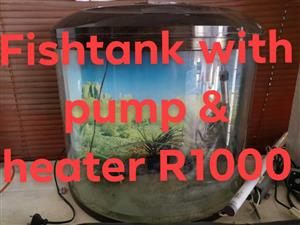 Fishtank with pump and heater