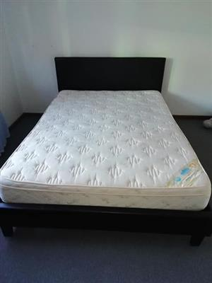 Double bed with edblo mattress for sale.