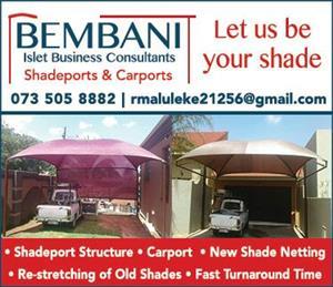 Shadeports, Shade netting and carports