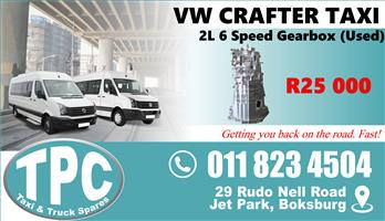 VW Crafter 2L 6 Speed Gearbox - Used - Quality Replacement Taxi Spare Parts.