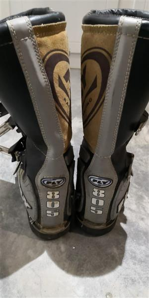 Fly Moto x riding boots size 12 used
