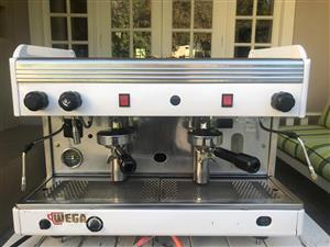 Refurbished Wega Orion 2 group espesso Machine with Grinder