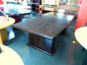 6-8 seat mahogany boardroom table