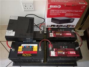 Inverter (UPS) + 4 Batteries