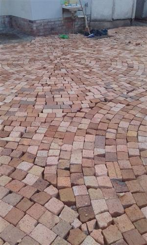 Half brick paving @ low cost