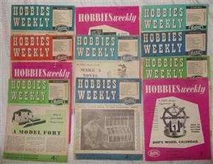 Hobbies Weekly Magazines 1957-1959 x10
