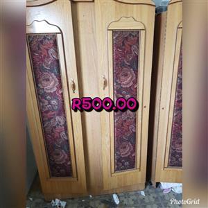 Light wooden 2 door closet for sale