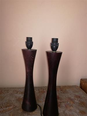 Wooden lamp stands for sale
