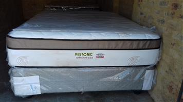 Restonic Orthozone Gold Queen Mattress and Base Set