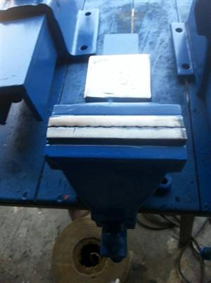 Blue bench vice for sale