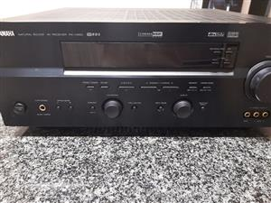 Yamaha amp, Jamo subwoofer, surround speakers and tv stand for sale  Kempton Park