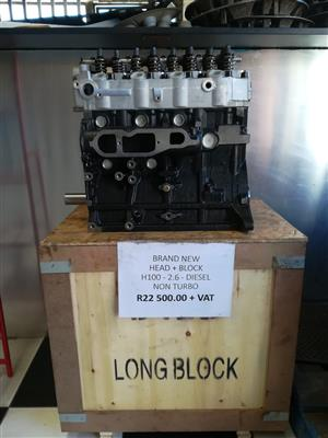 HEAD + BLOCK H100 2.6 DIESEL (NON TURBO)