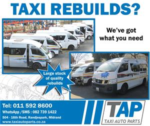 Taxi REBUILDS - Wide range of quality rebuilds for sale at  Taxi Auto Parts TAP