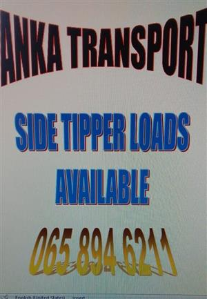 AVAILABLE SIDE TIPPER LOADS MOOINOOI