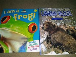 I am a frog and canadian wildlife books