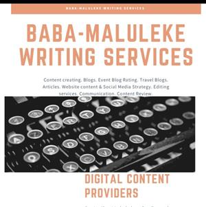 Writing, Marketing and Digital Services