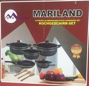 Mariland 12 piece aluminium cookware set