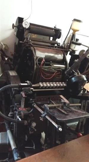 Original Heidelberg Platen with Foiling Attachment