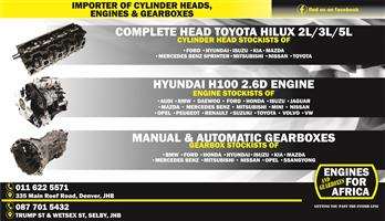 New And Used Engines Gearboxes And Cylinder Heads For Cars Bakkies Taxis And Trucks For Sale