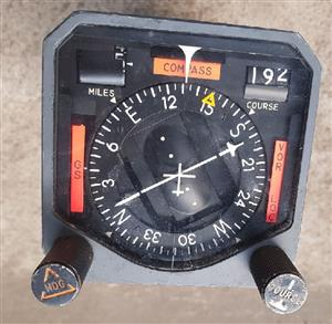Collins Aircraft Course Indicator PN 522-2782-004 Model 331A-6A AR Functional