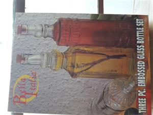 BELLA ITALIA GLASS BOTTLE SET